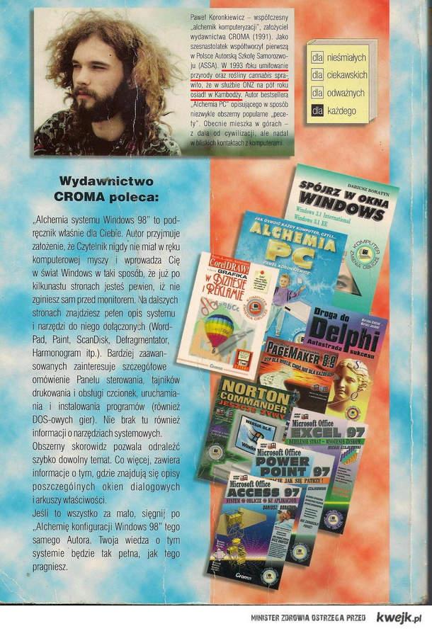 Okładka książki do Windowsa 98