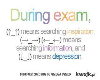 Podczas egzaminu