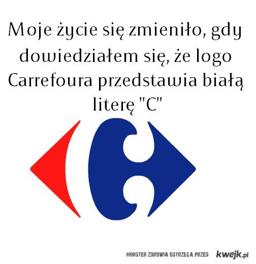Odwieczna zagadka logo Carrefoura