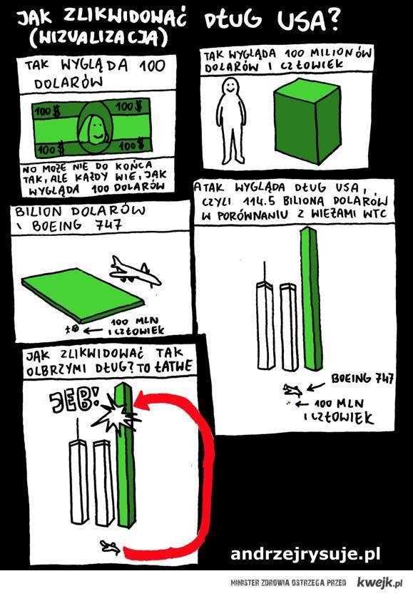 Jak zlikwidować dług USA ! ;)