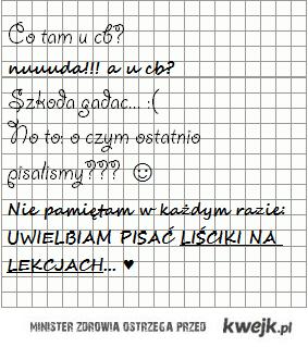liściki na lekcjach <3