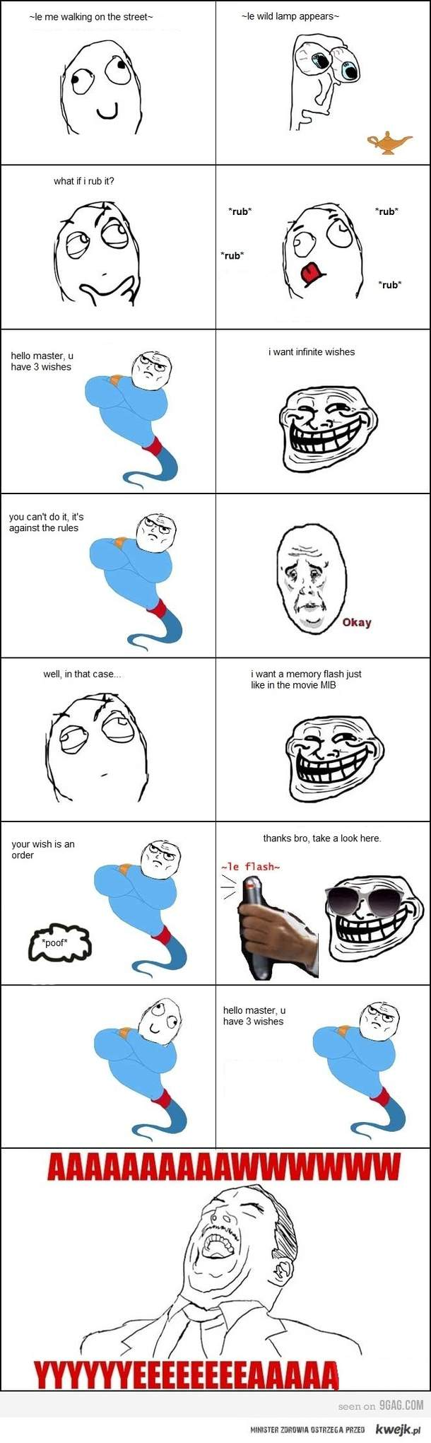 Trolling a Genius