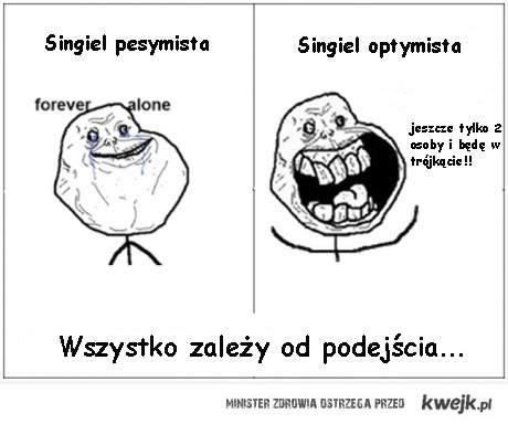 single: optymista i pesymista