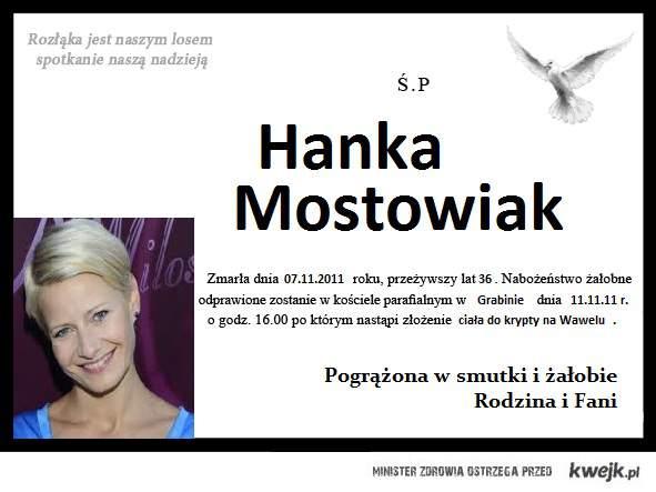 Nasza śp. Hanna Mostowiak