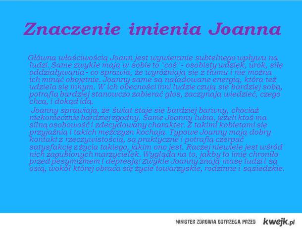 znaczenie imienia joanna