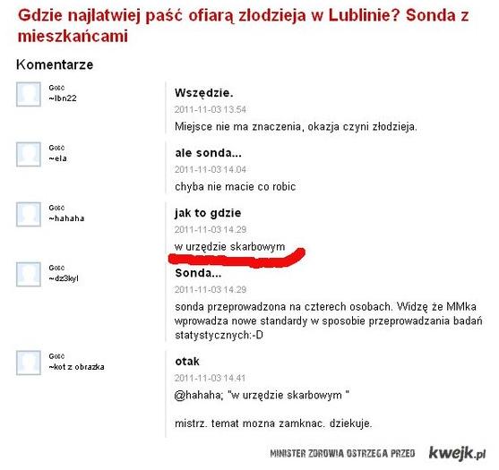 Gdzie najlatwiej pasc ofiara przestepstwa w Lublinie?