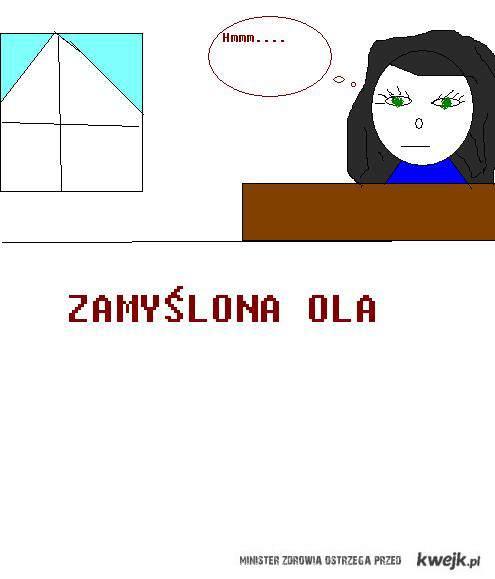 olunia na lekcji j.polskiego