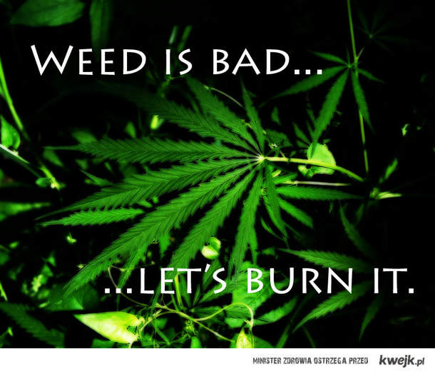 Weed is bad...