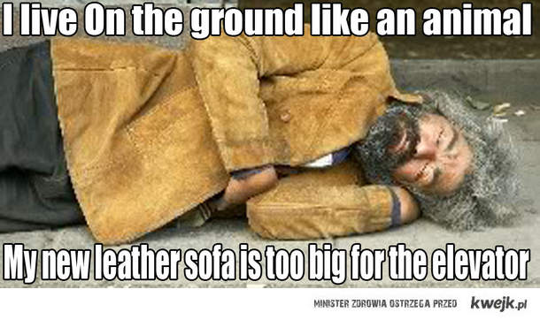 Śpię na ziemi jak zwierze