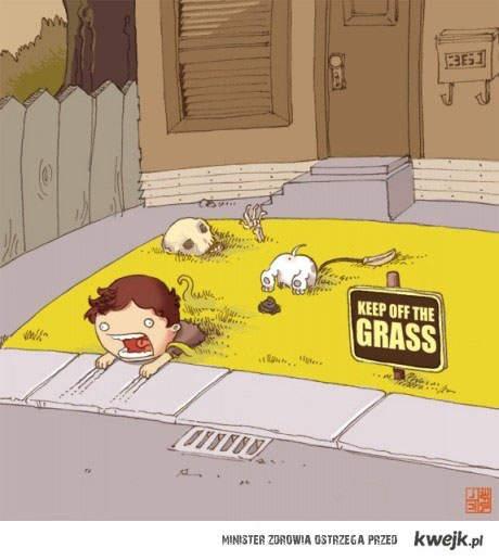 z dala od trawy