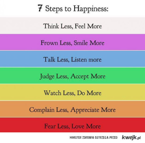7 seps to happiness