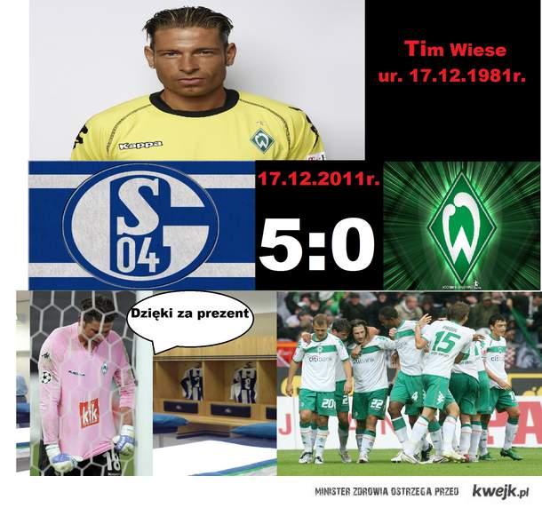 """""""Dzięki za prezent"""" - Tim Wiese"""