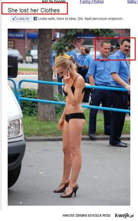 Zgubiła swoje ubrania...