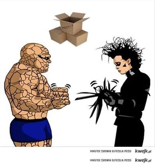 kamień, nożyce, kartony:D