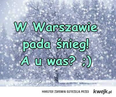 W Warszawie Pada śnieg