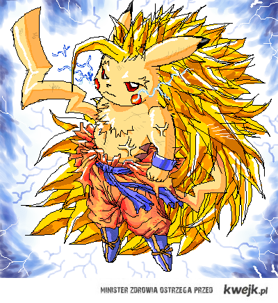 Pikachu Super Saiyan!
