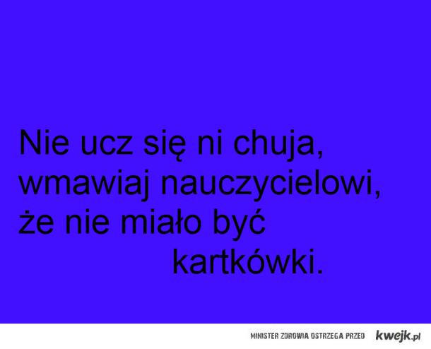 uczeń i kartkówka. ;)
