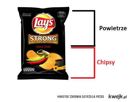 ile chipsów w paczce