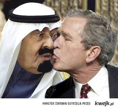 Bush Kissing Saudi
