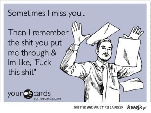 czasem mi cię brakuje...