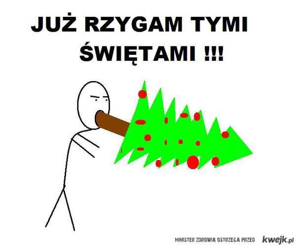 rzygam nie lubie świąt