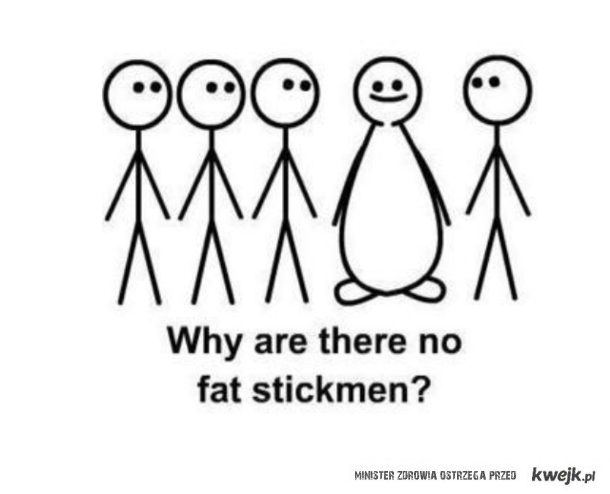 no fat stickman