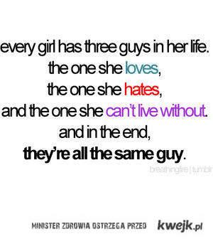 3 mężczyzn w jej życiu