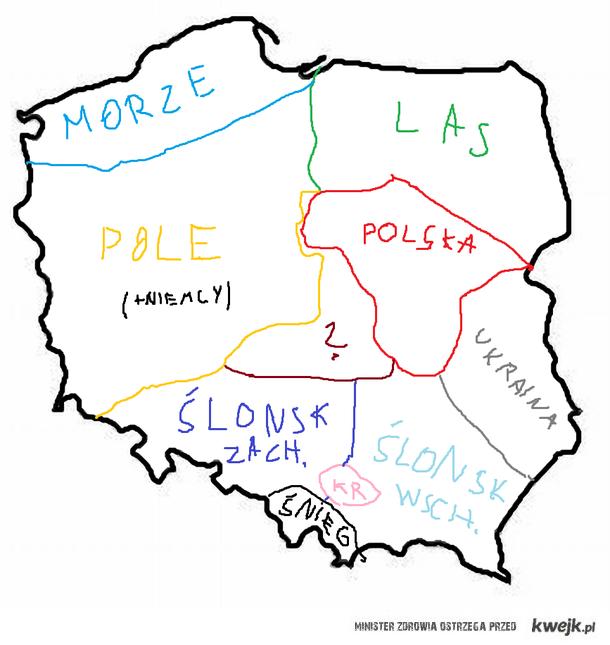 Polska wg Warszawy