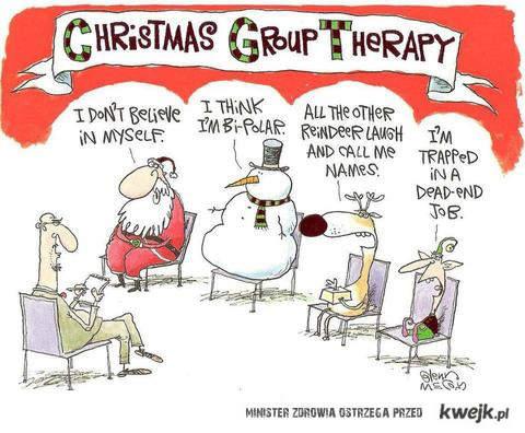 świąteczna terapia grupowa