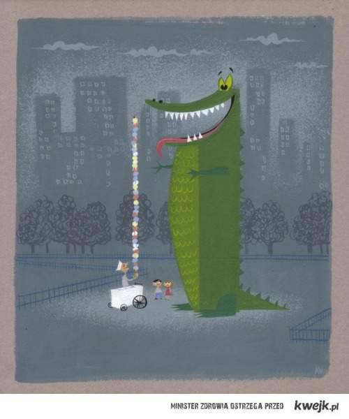 duuuuży krokodylek i lody