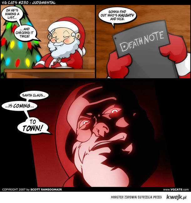 Santa Clause is coming to town (with a Death Note)