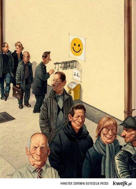 w pracy masz być uśmiechnięty