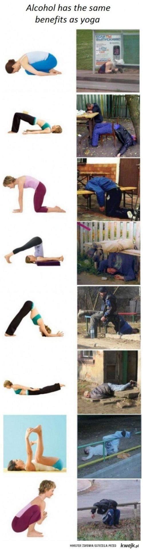 Yoga a alkohol