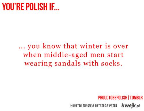 sandały + skarpetki = polak