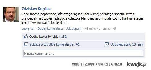 Losowanie LE i prezes Kręcina ;)