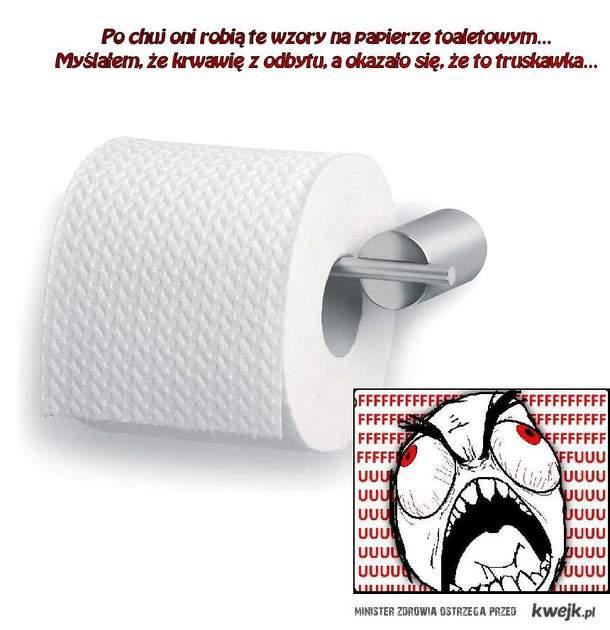 Wzory na papierze toaletowym
