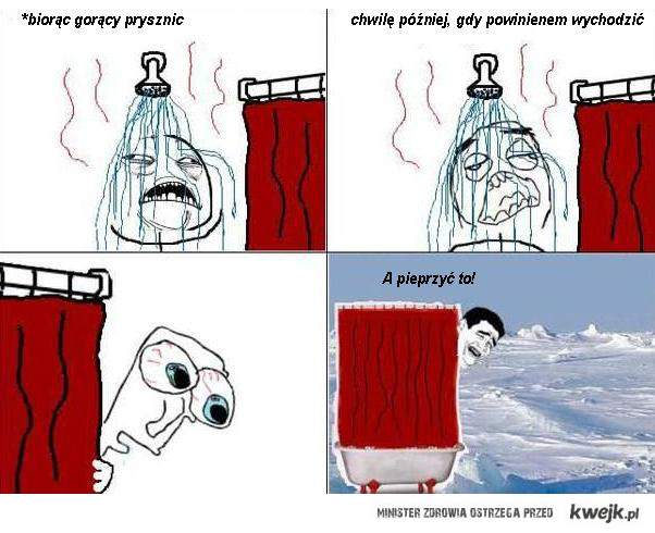 gorący prysznic
