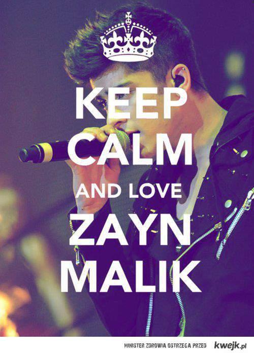 keep calm...love zayn malik <3