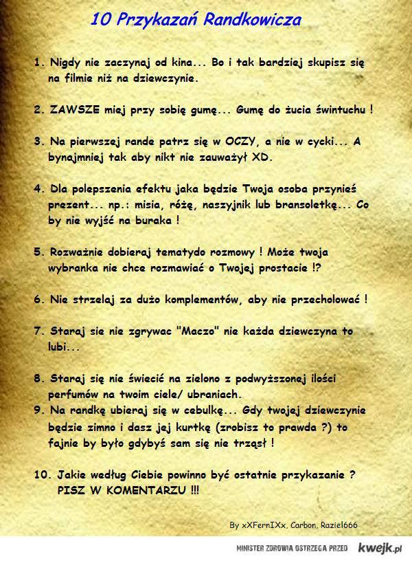 10 Przykazań randkowicza