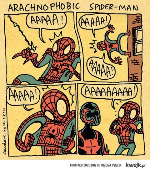 spiderman i jego fobia
