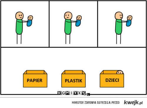 Papier, Plastik Dzieci