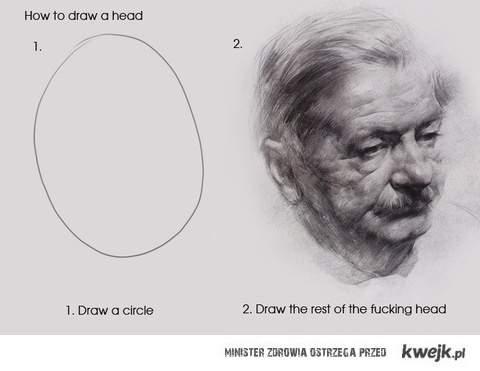 jak rysować głowe