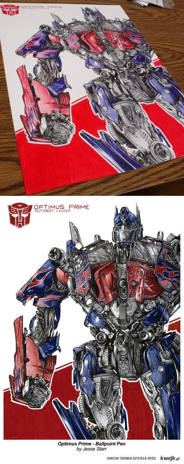 Optimus długopisami kulkowymi