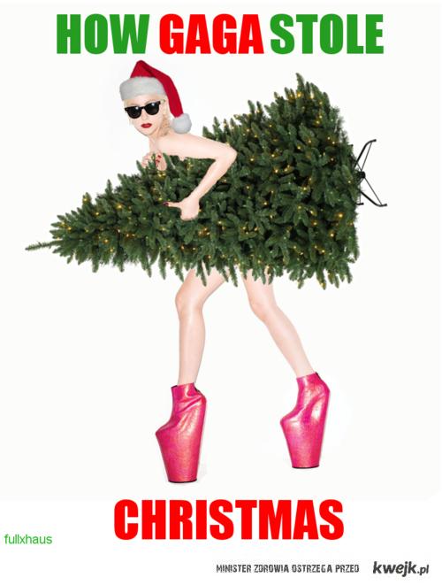 how gaga stole christmas