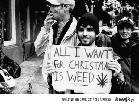 all i want for christmas is weed