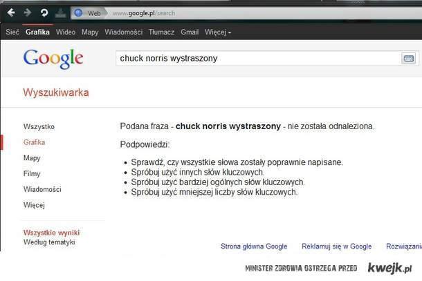chuck norris wystraszony