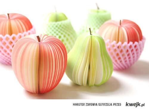 papierowe owoce