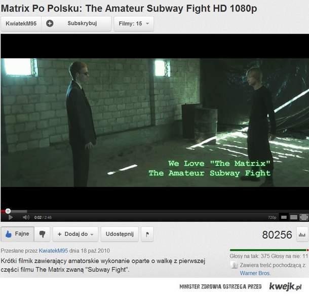 Matrix po Polsku - amatorskie wykonanie kombinacji walki