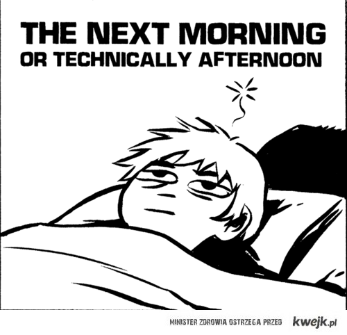 the next morning/afternoon