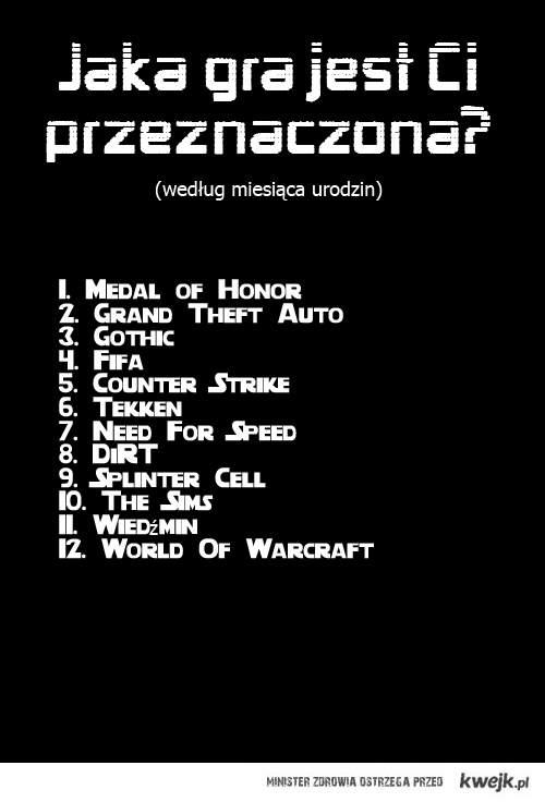 Jaka gra jest Ci przeznaczona?